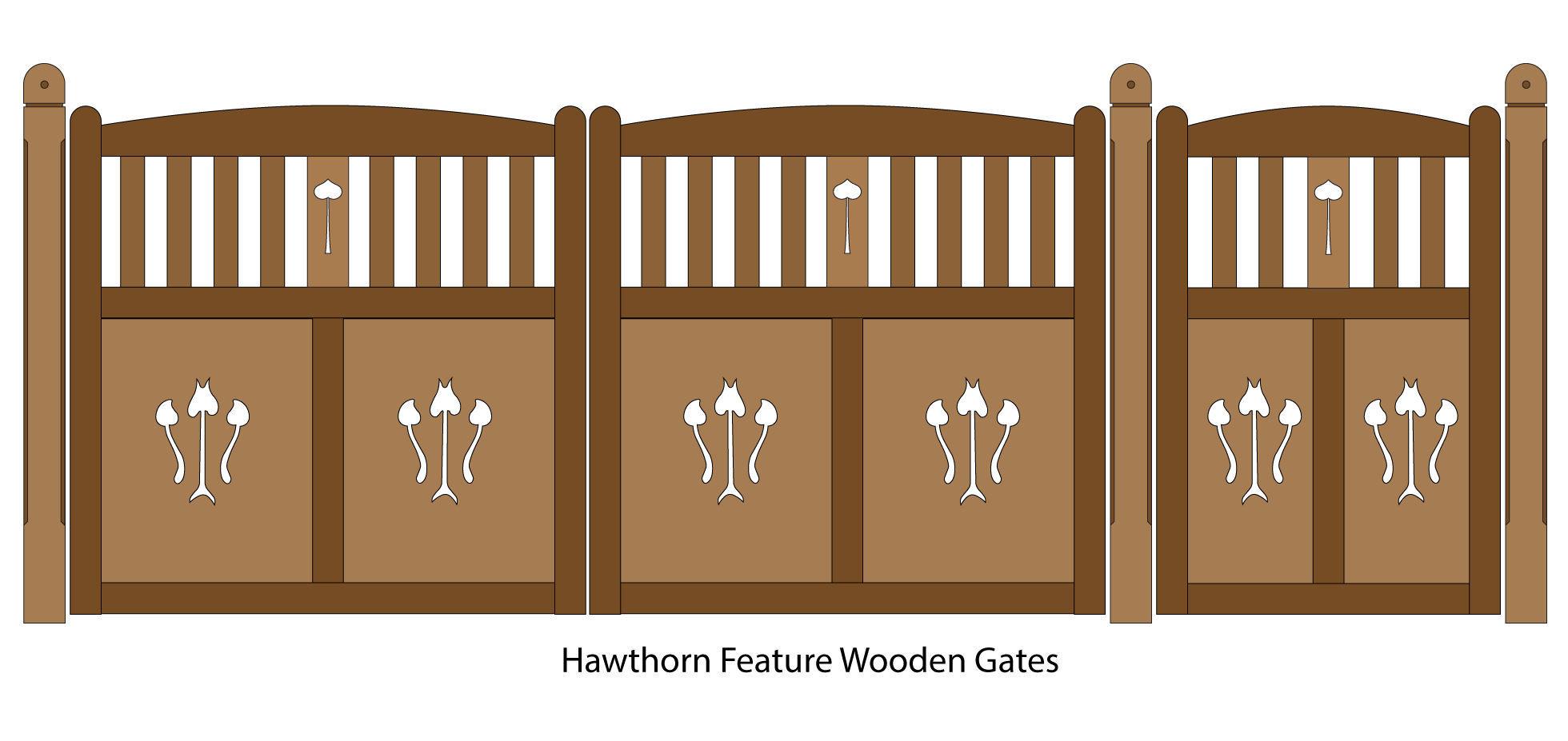 Hawthorn Feature Wooden Driveway and Pedestrian entrance gates