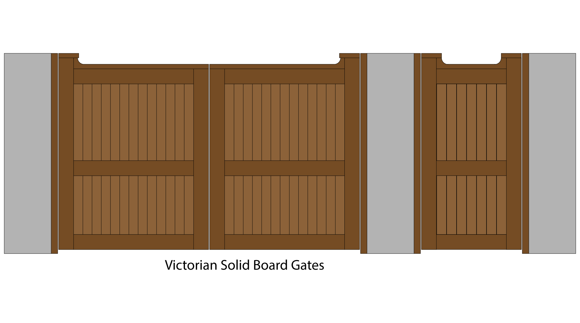 Victorian solid board gates