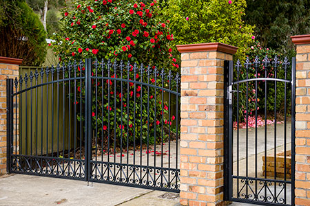 Steel pedestrian and driveway gates
